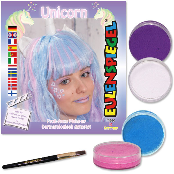 "Schminkset ""Unicorn"" 4 Farben, 1 Pinsel"