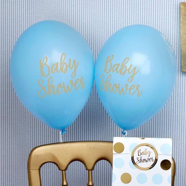 Latexballons - Baby Shower, blau, im 8er Pack
