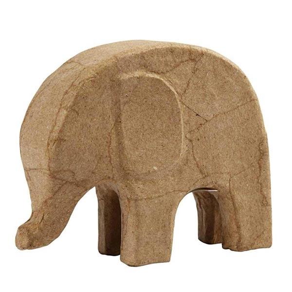 Elefant zum Bemalen und Verzieren, 14cm x 17cm, niedlicher Elefant