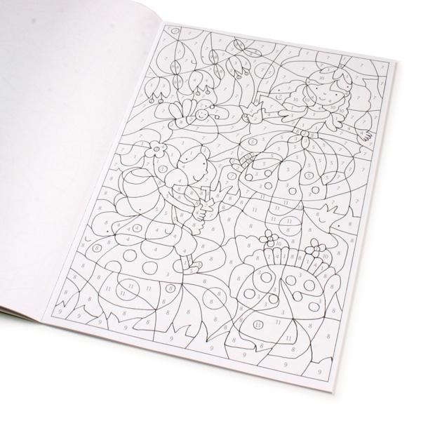 Malen nach Zahlen - Elfen und Feen, märchenhafte Motive zum Ausmalen