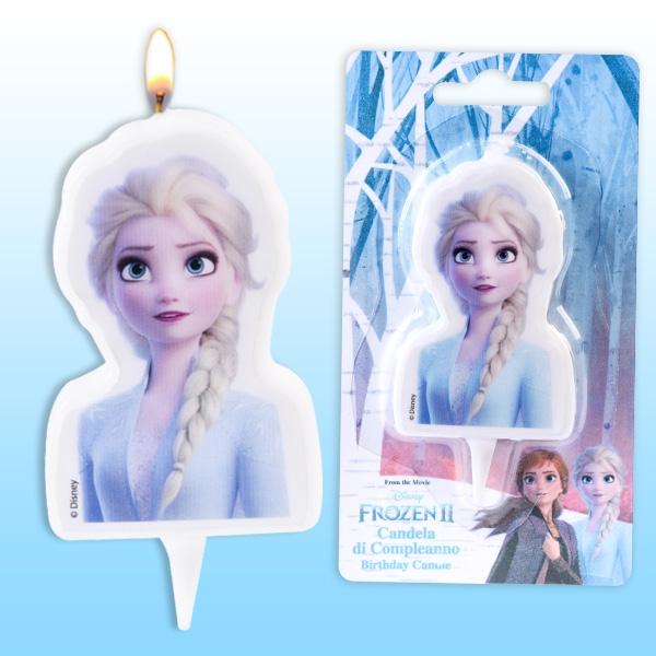 "Elsa Kuchenkerze ""Frozen 2"", 1 Stk, 9,5cm"