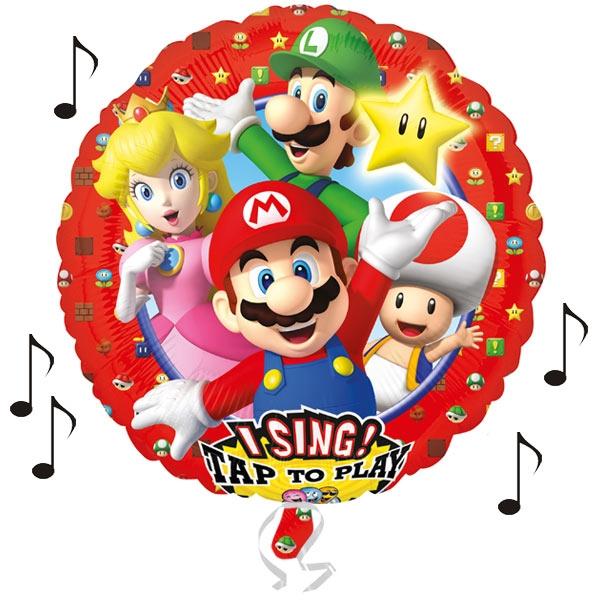 "Singender Folieballon ""Super Mario"" Theme Song Ø 71cm"