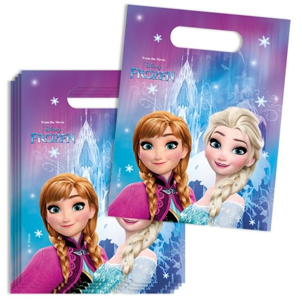 Frozen Geschenktütchen im 6er Pack mit Anna und Elsa, Folie, 23 × 16,5cm