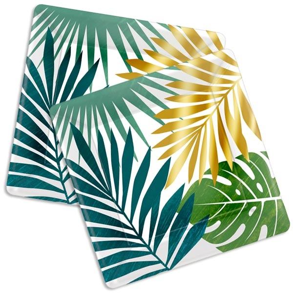 Tropical Summer Pappteller, eckig, 8 Stk, 26cm