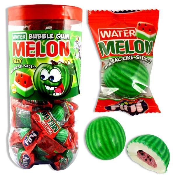 Großpackung Bubble Gum Melone XL, 3cm Durchmesser, mit Melonengeschmack, 50 einz. Kaugummis