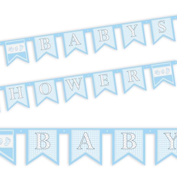 Buchstabenkette Baby Shower Boy für die Party vor der Geburt, 1 Stück