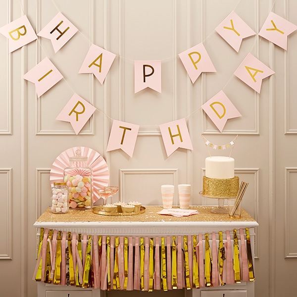 "Wimpelkette ""Happy Birthday"", 2,5m"