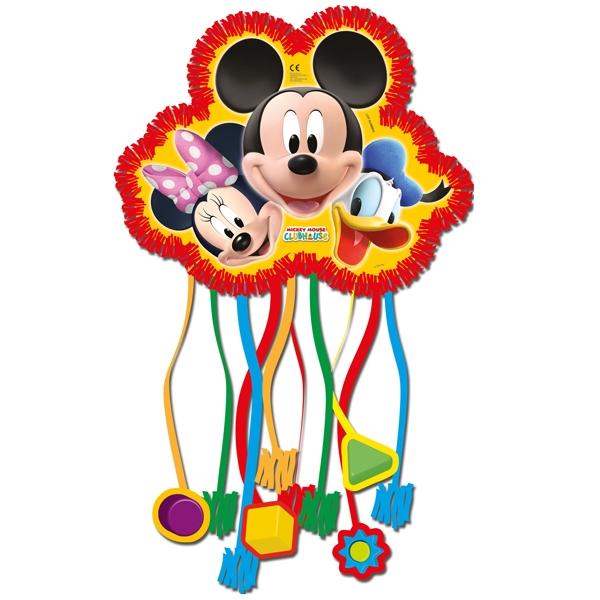 Micky Maus Zugpinata mit 10 Bändern, Papierbox zum Befüllen