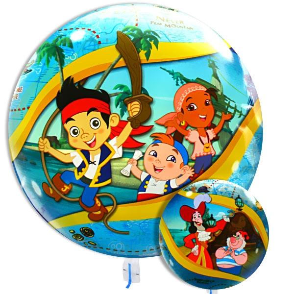 Bubble Ballon Jake und die Nimmerlandpiraten, 40 cm, flexibel