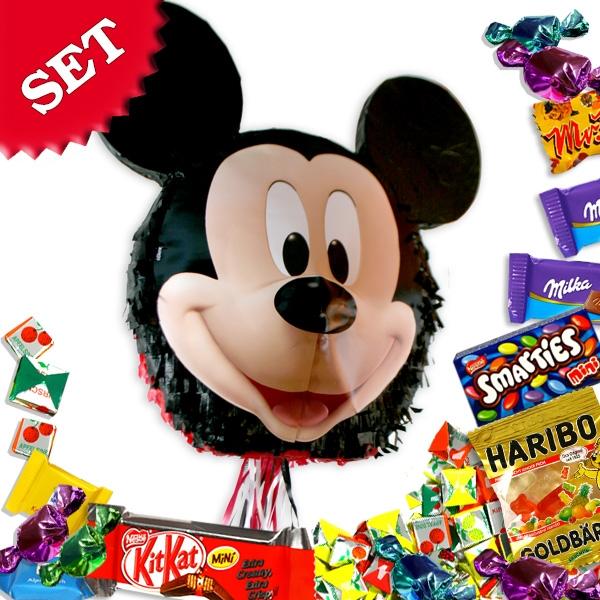 Mickey Maus Pinata-Set mit Süßem