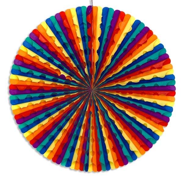 XL Regenbogen-Dekofächer 70 cm , schöner Eyecatcher für jede Party