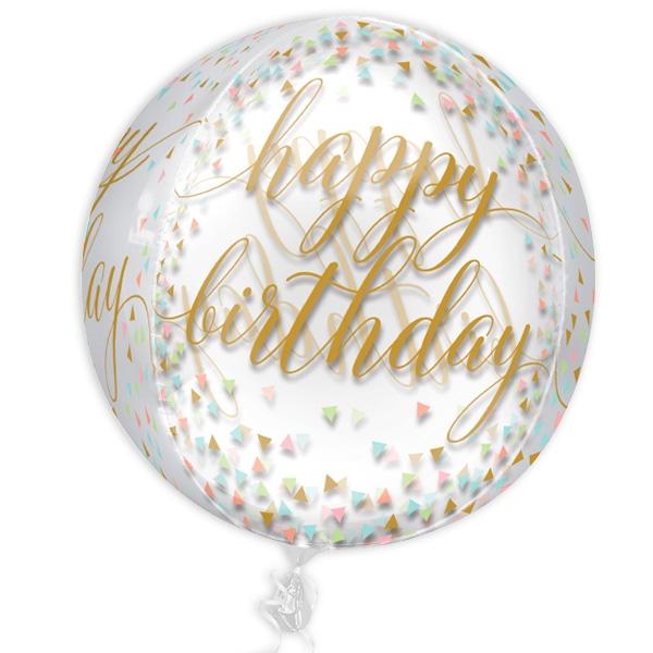 "Kugelrunder Folienballon ""Pastel Confetti"", 38cm x 40cm"