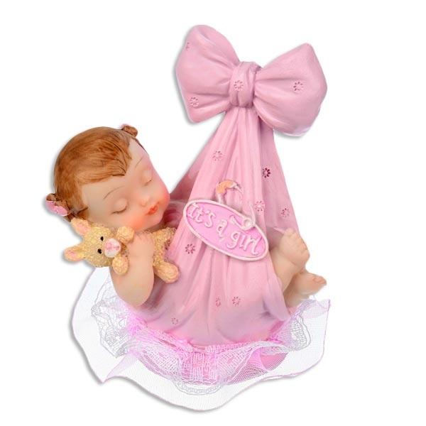 Tortenfigur It's a girl Nonfood 9cm für Babyparty Torte zur Mädchen-Geburt