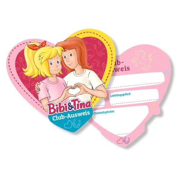 Bibi und Tina Ausweise für Bibi Blocksberg Party im 6er Pack, Pappe