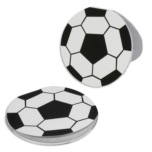 Fußball Notizblock rund, Mitgebsel für Fußballparty, 8cm, 1 Stück