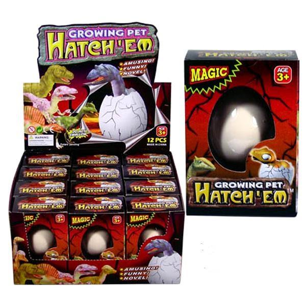Dino Ei, cooles Schlüpf-Ei, Dino wächst in 24h, 4x5,5 cm, Kunststoff