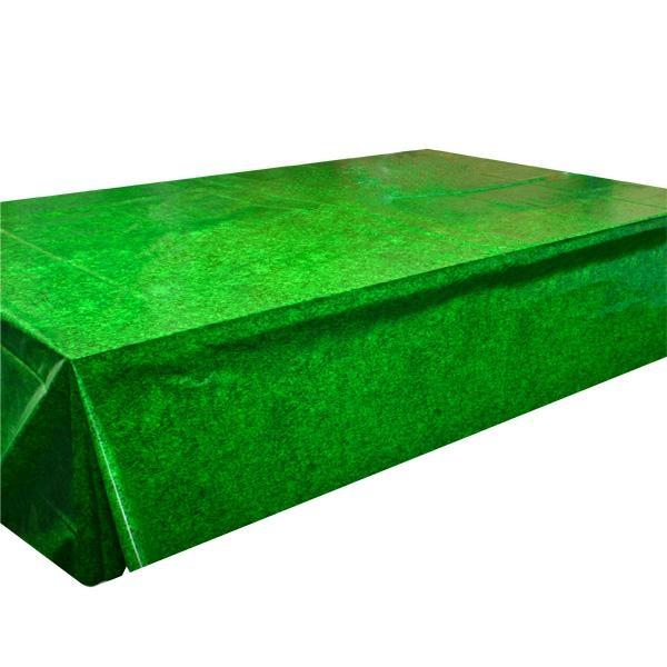 Tischdecke grasgrün, Folie, 2,6×1,4m für perfektes Picknick-Feeling