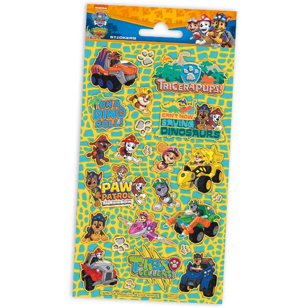 """Stickerbogen """"Paw Patrol Dino Rescue"""" mit 24 Stickern"""