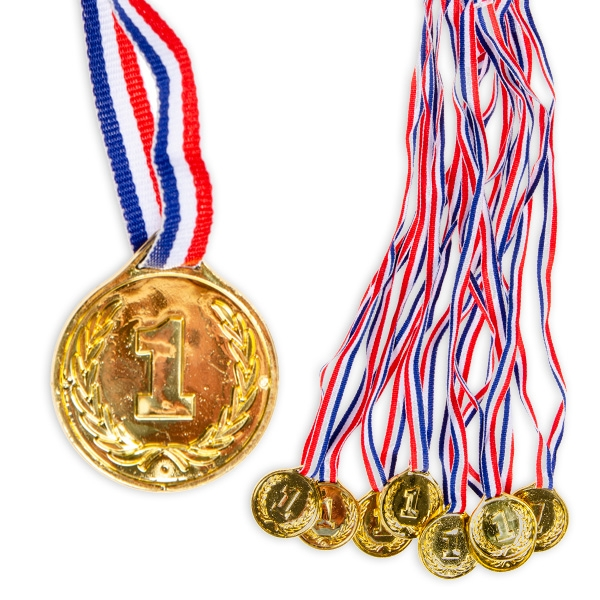 Goldmedaillen im 8er Pack, Kunststoff
