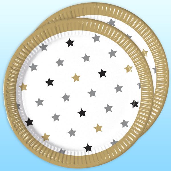 Meilensteine Partyteller, Sterne, 8 Stück, 22,5 cm