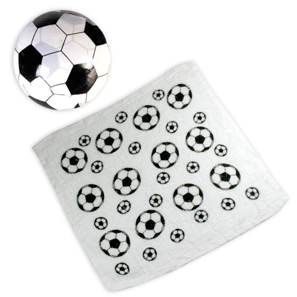 Magisches Handtuch Fußball 30x30cm, Geschenk zur Fußballparty