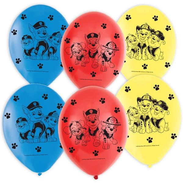 "Luftballons ""Paw Patrol"", 6er, 22,8cm"