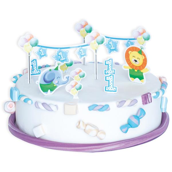 1. Geburtstag Junge  -Tortendeko-Set, 10-teilig