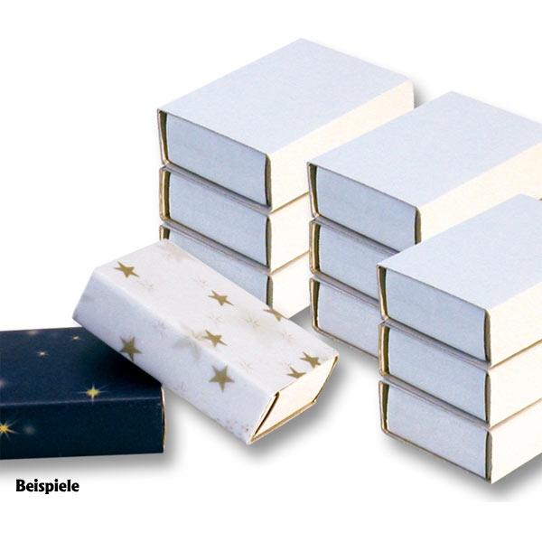 Streichholzschachteln, blanko weiß 10 Stück , 5,4cm x 3,5cm