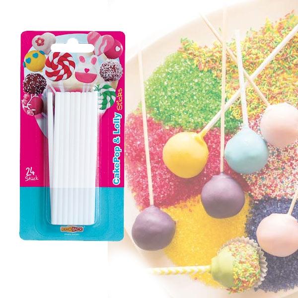 Cake Pop & Lolly Sticks, 24 Stiele für die beliebten Kuchen-Lollis, 15 cm
