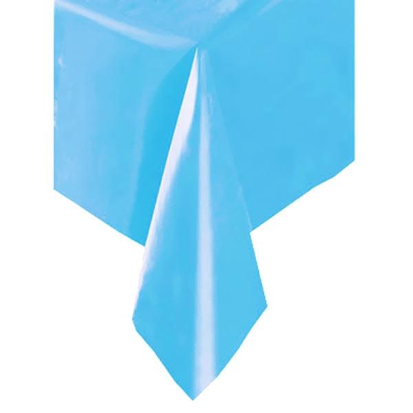 Tischdecke blau, 137×274cm, Partytischdecke aus Kunststofffolie