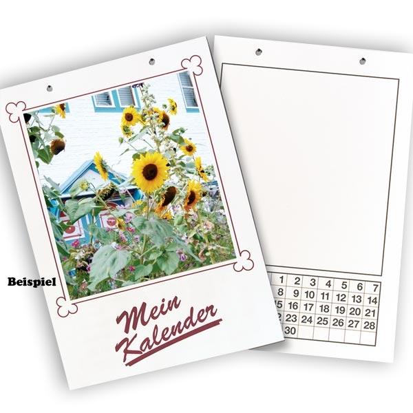 Dauerkalender MEIN KALENDER, DIN A4, weiß, gelocht, für Kreative