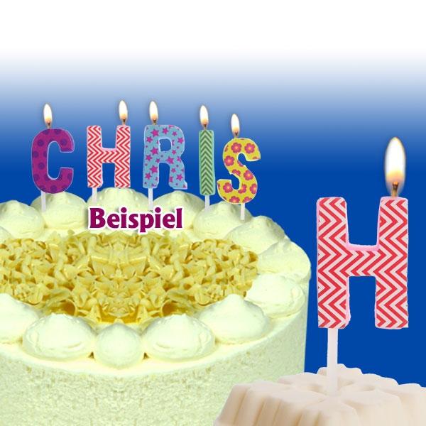 Mini Kerze Buchstabe H für Namen & persönliche Sprüche, 2,5cm, 1 Stück