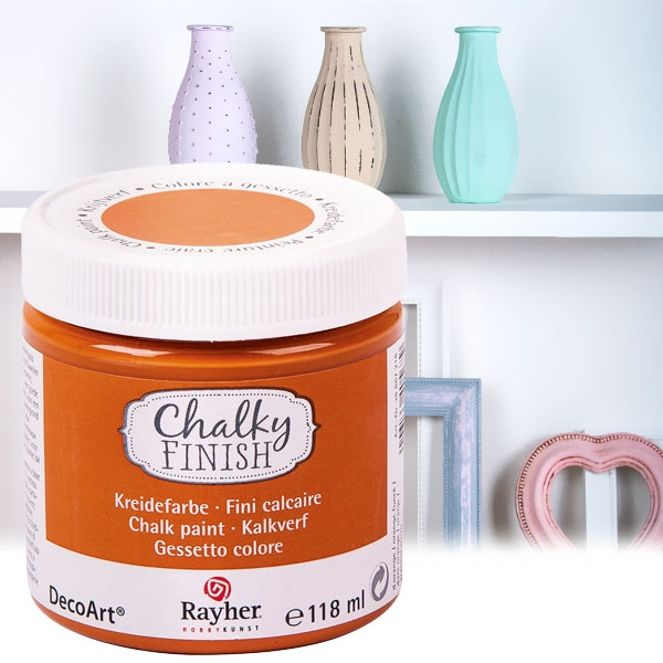 Chalky Finish Kreidefarbe Orange, samtartige Optik, 118ml, vielseitig einsetzbar