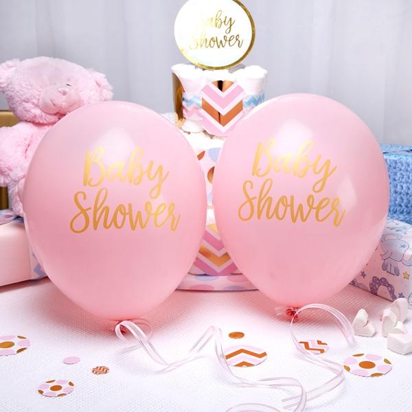 Latexballons - Baby Shower, rosa, im 8er Pack