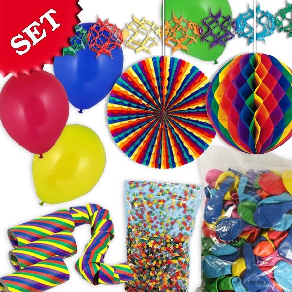 Dekorationsset für Karnevalsparty, ca. 167 Teile