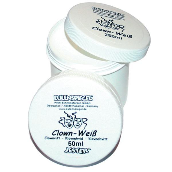 Clownsschminke weiß, 50ml Dose Wasserbasis, ideale Schminkgrundlage