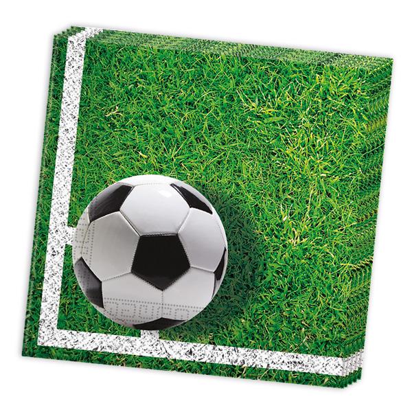 Fußball Servietten, 20 Stk, 33cm x 33cm