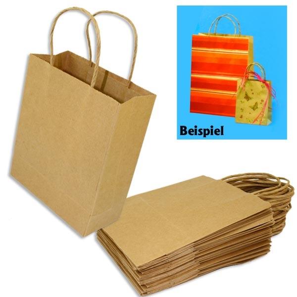 Geschenktaschen aus Papier zum Bemalen / Bekleben, 20 Stk., 18×21cm