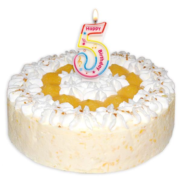 "Zahlenkerze ""5"" mit Happy-Birthday-Aufdruck"