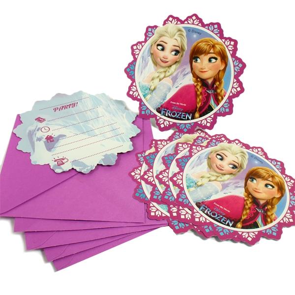 Eiskönigin Einladungen im 6er Pack