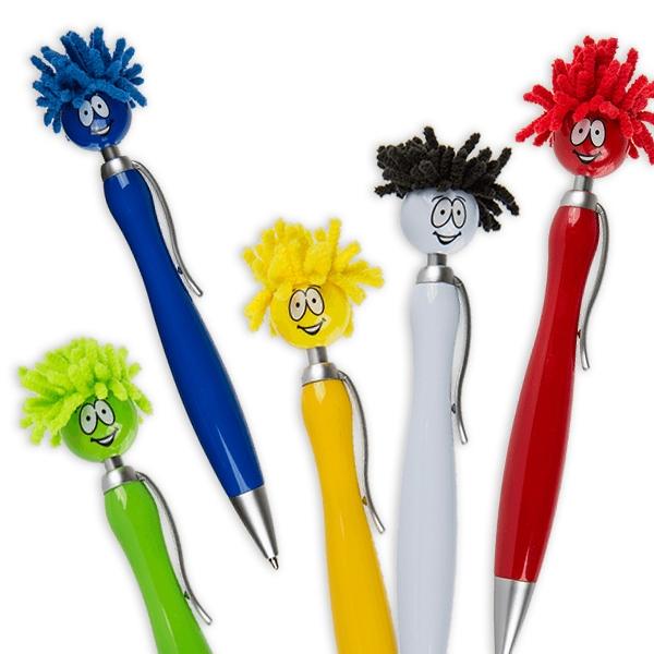 """Kugelschreiber-""""Mop Topper"""", 5-farbig sortiert"""