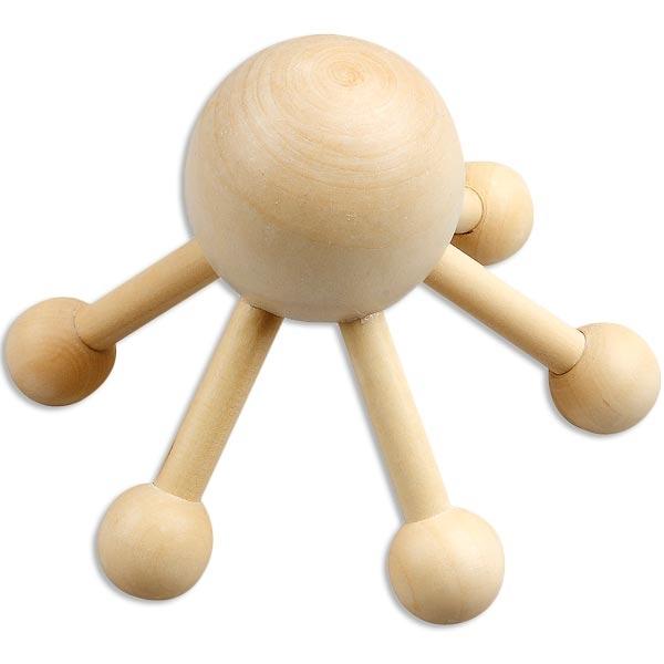 Massage-Spinne, zum Bemalen und selber gestalten, aus Holz, 11,5cm x 9cm