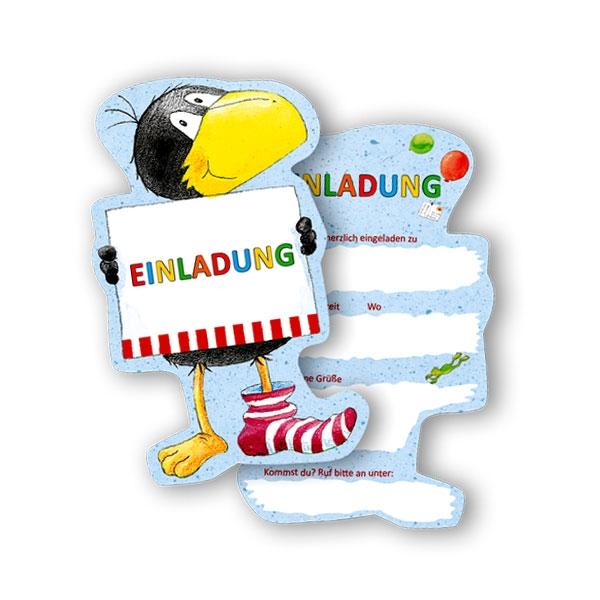 Rabe Socke Einladungen, 6er Pack Einladungskarten für Kleinkinder