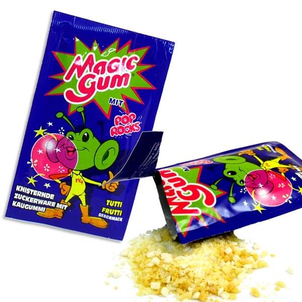 Magic Gum Tutti Frutti, 1 Tütchen, knistert u. prickelt, Kaugummi