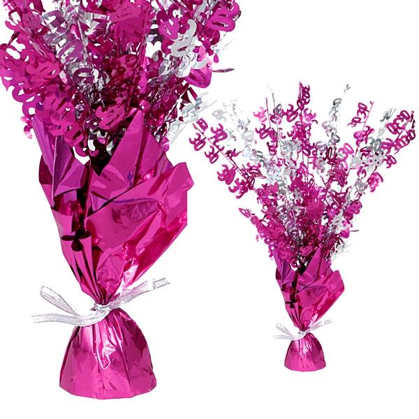 "Ballongewicht Zahl ""30""-Tischdeko, metallic pink"