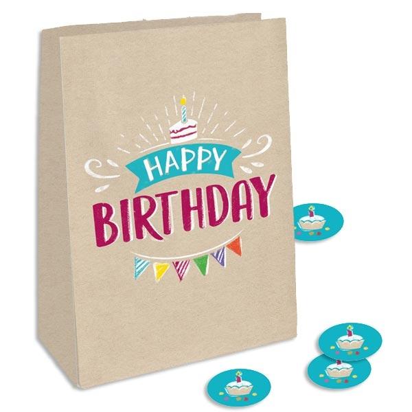 """""""My Happy Birthday"""" Geschenktüten 4 Stk, 15cm x 20,5cm"""