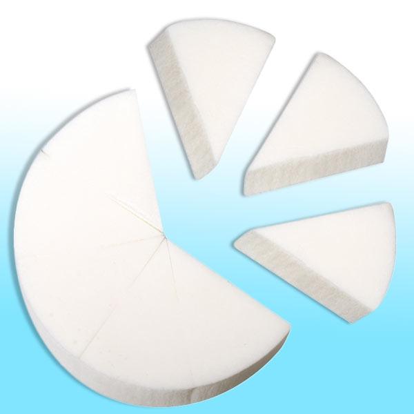 Kautschuk Malschwamm, Durchm. 8cm, aufteilbar in 8 Teile, für Grundierungen, Schattierungen, Schablonieren