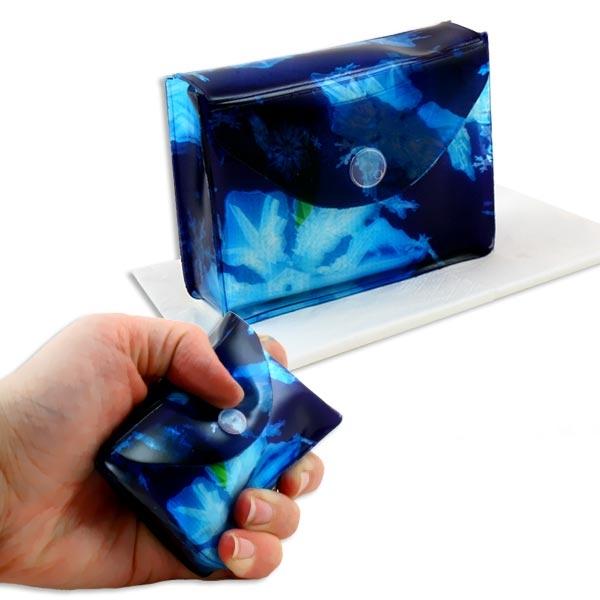Knautschfreie Taschentuch-Box zum Wiederbefüllen Eiskristall-Design, inkl. Tüchern, Querformat