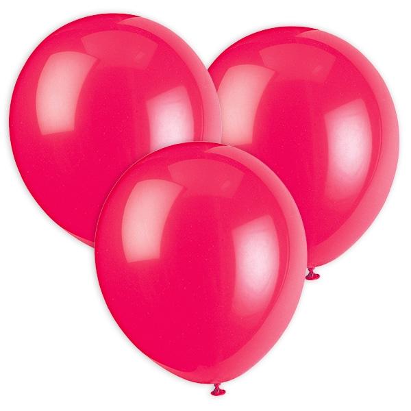 Luftballons in fuchsia, 30cm, 10 Stück