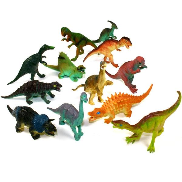 Dinofigur aus Gummi 11-14cm, coole Dinosaurier-Spielfigur, 1 Stück